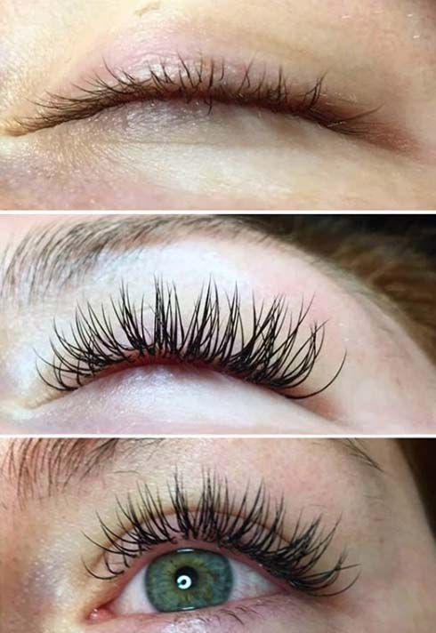 examples of before and after lash treatments
