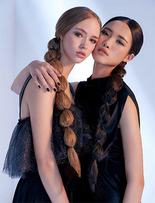 bmc graduate mua sunny lee's work two models