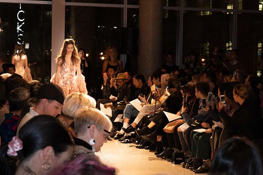 pink, gown, Atelier Campus, fashion show, BMC, Blanche, fashion design, runway