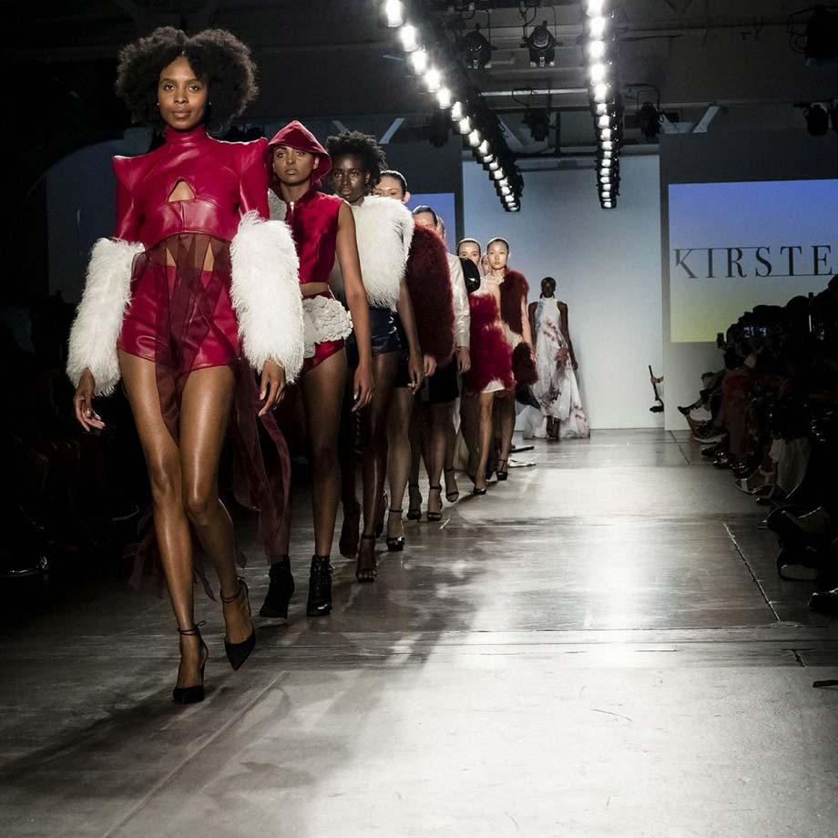 Kirsten Ley, Blanche Macdonald, Grad Show, molded leather, fashion designer, Mitosis, Arun Nevader, NY, fashion week