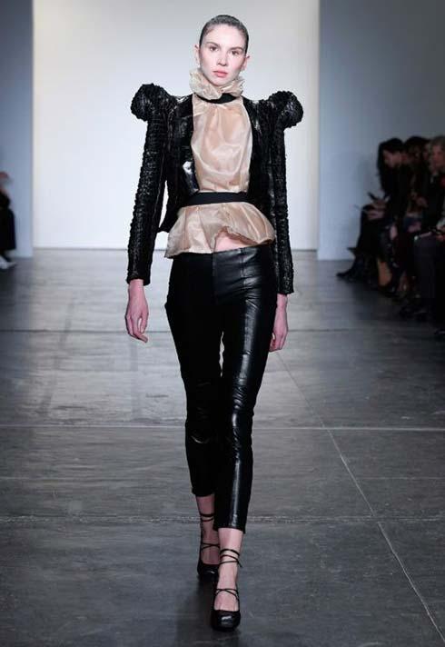 Kirsten Ley, Blanche Macdonald, runway, leather, fashion designer, NERO, runway, fashion week