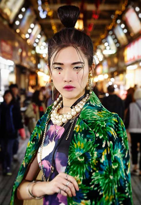 Sunny Lee, makeup, editorial