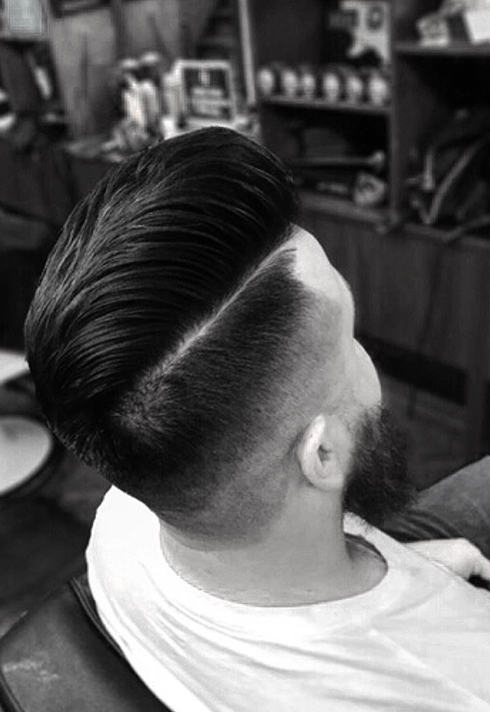 Example of barber Cody Dunbar's work at Bourbon Barbershop in Saskatchewan