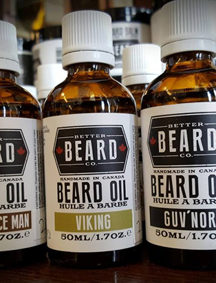 beard oil used by cody dunbar on clients where he cuts and shaves men's hair in saskatchewan