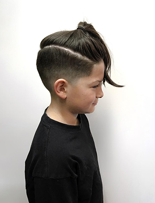 cool kids hair cut by Cody Dunbar at Bourbon Barber Shop BMD Graduate