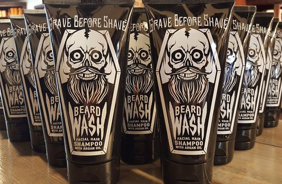 grave before shave products used by cody dunbar on clients where he cuts men's hair