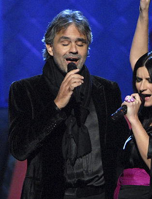 makeup for Andrea Bocelli by Blanche Macdonald makeup program graduate Jonathan Seti