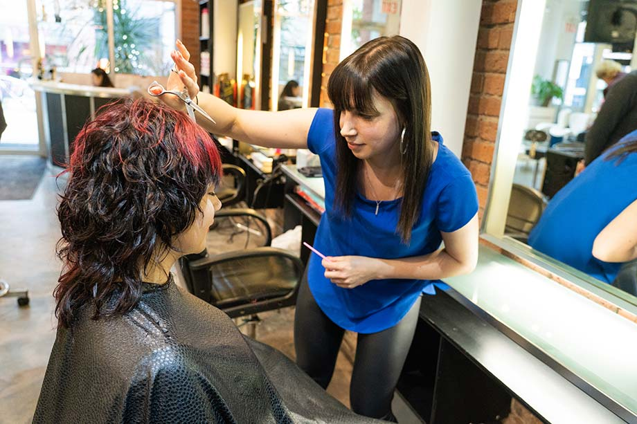 Stacey Paskall, Blanche MacDonald, grad, hairstyling, hairstylist, Avant Garde Salon, Yaletown, Vancouver