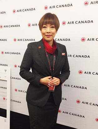 Sandy Na in her role at Air Canada
