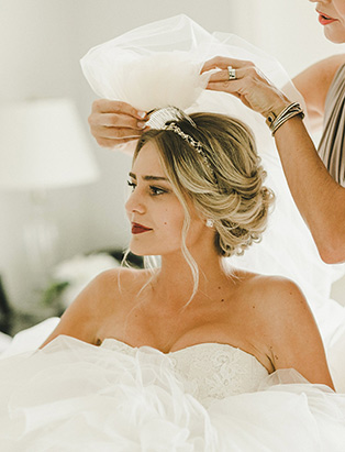 hairstylist and BMC hair graduate Erin Klassen does bridal hair