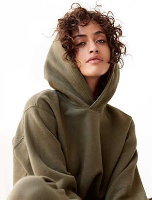 curly hair under hoodie by BMC graduate Erin Klassen