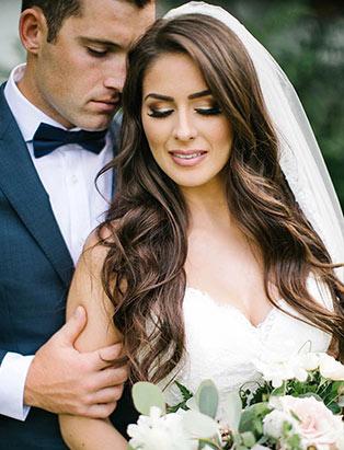 hairstylist and BMC hair graduate Erin Klassen creates flowing bridal hair