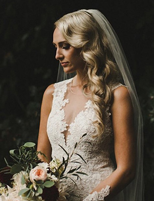 hairstylist and BMC hair graduate Erin Klassen creates fairytale bridal hair looks