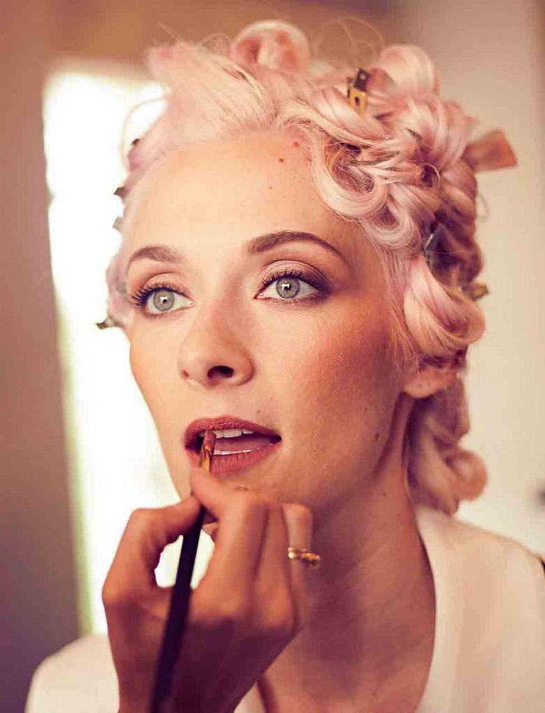 wedding makeup for Portia Freeman by BMC grad Lori Woodhouse