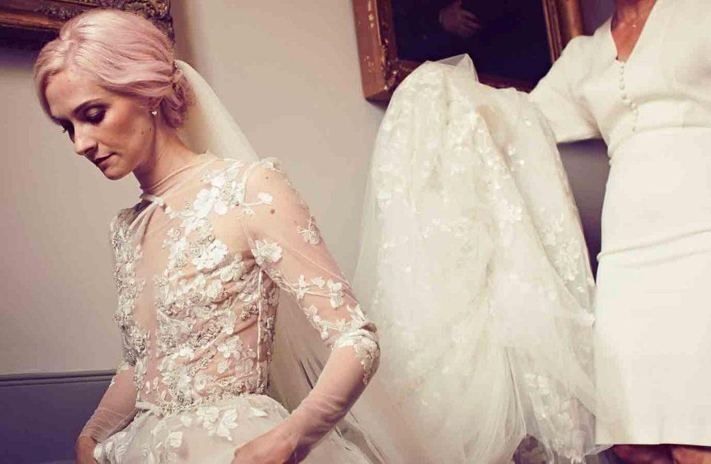 Portia Freeman on her wedding day, makeup by Lori Woodman