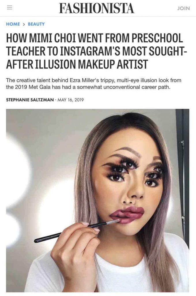 fashionista article mimi choi illusion makeup artist