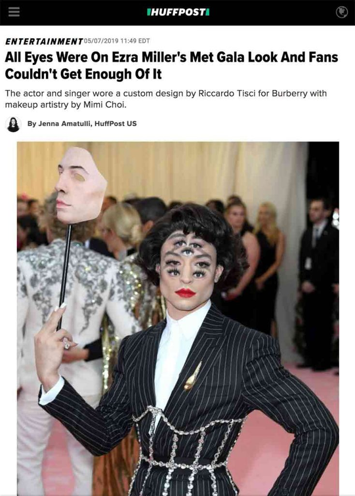 huffington post article mimi choi met gala makeup artist