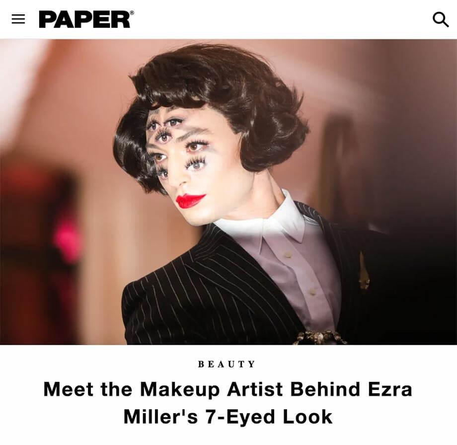 paper magazine seven eyes met gala ezra miller mimi choi