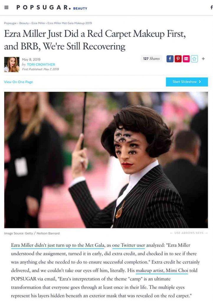 popsugar article ezra miller met gala red carpet makeup mimi choi