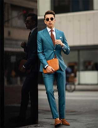 Teal Custom Suit Indochino