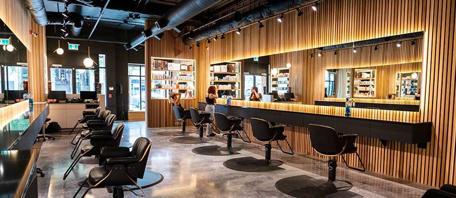 panoramic view of BRUSH Salon Vancouver