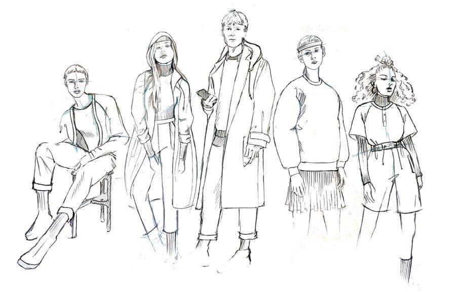 Sportswear Illustration by Nike Senior Designer Theola Wong