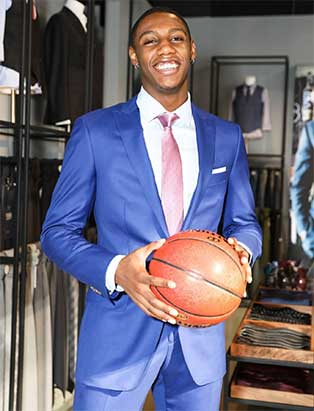 RJ Barrett Indochino Blue Suit