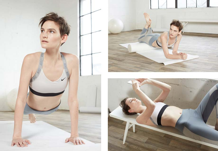 Yoga Neutral Colour Activewear Art Directed by Theola Wong