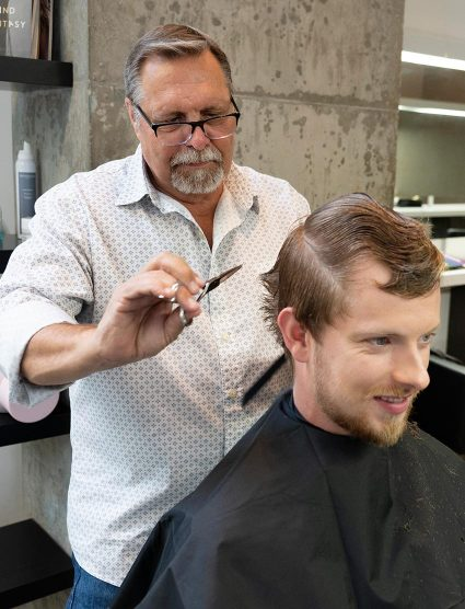 Blanche Macdonald Hair Program Director Phil Loiselle in action.