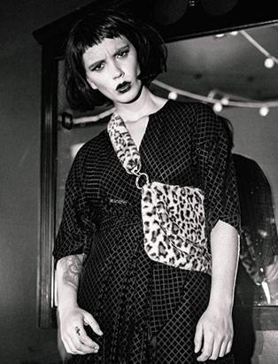 black and white editorial makeup look by Jana Bizzari, MUA graduate, Blanche Macdonald