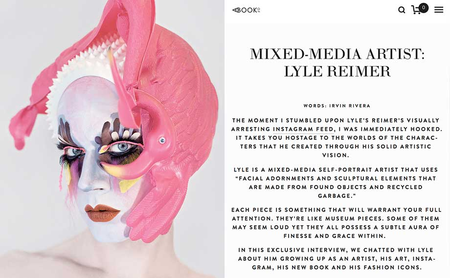 Blanche Macdonald Makeup graduate Lyle Reimer Flamingo featured on A Book Of