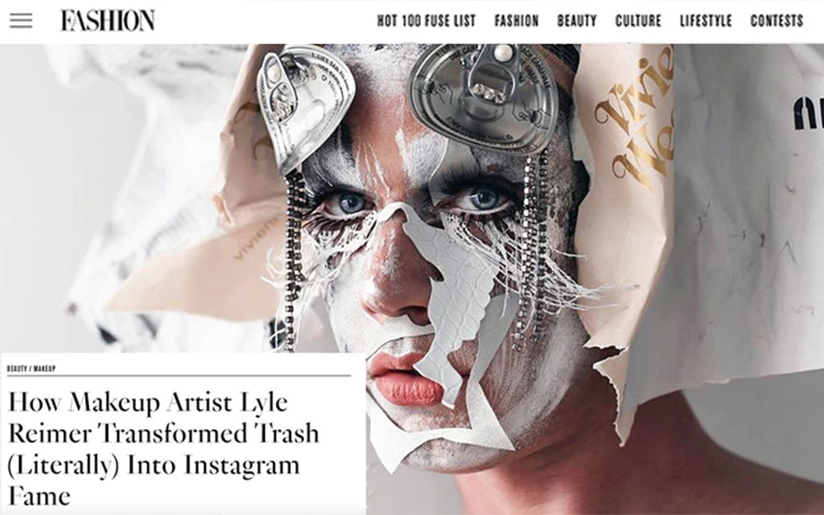 Lyle Reimer Instagram Fame feature on FASHION Mag