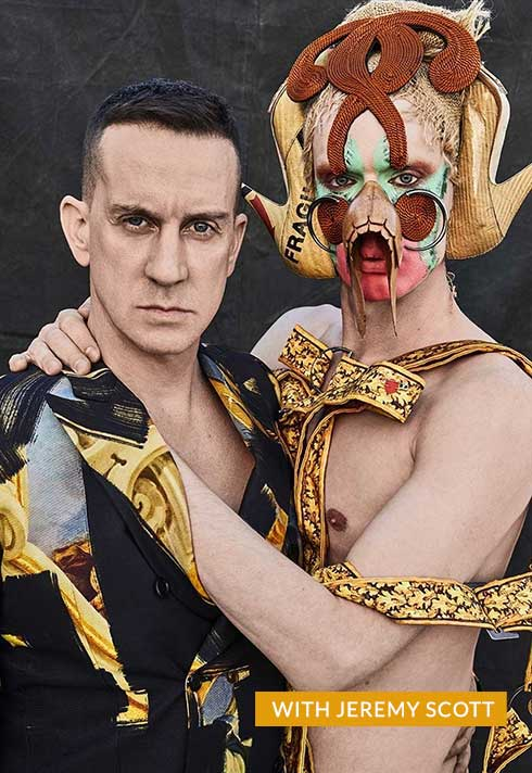 Lyle Reimer with Fashion Designer Jeremy Scott