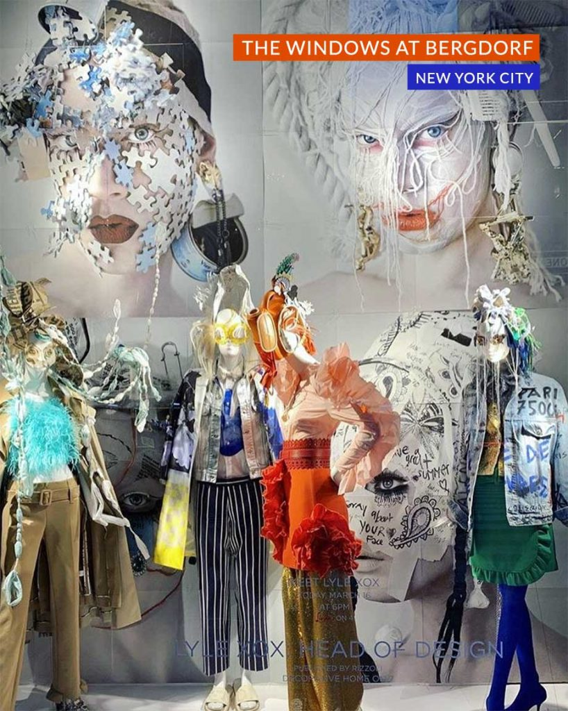 Bergdorf Goodman NYC unveils Lyle XOX window