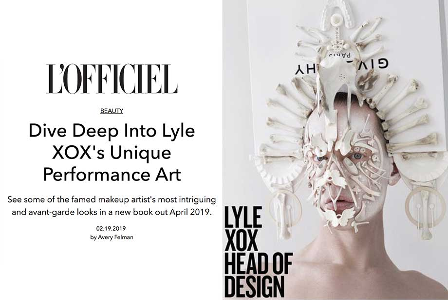 L'OFFICIEL features Blanche Macdonald Makeup graduate LYLE XOX