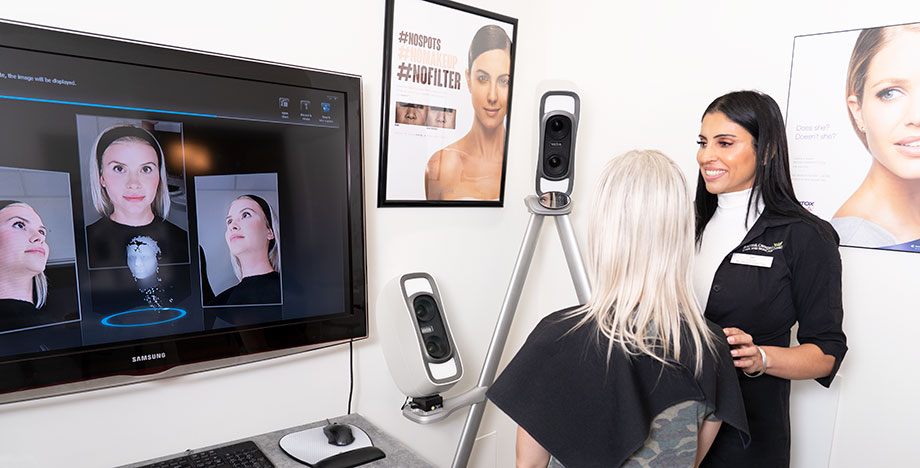 3D imaging consultation at Beautiful Canadian Laser & Skincare clinic