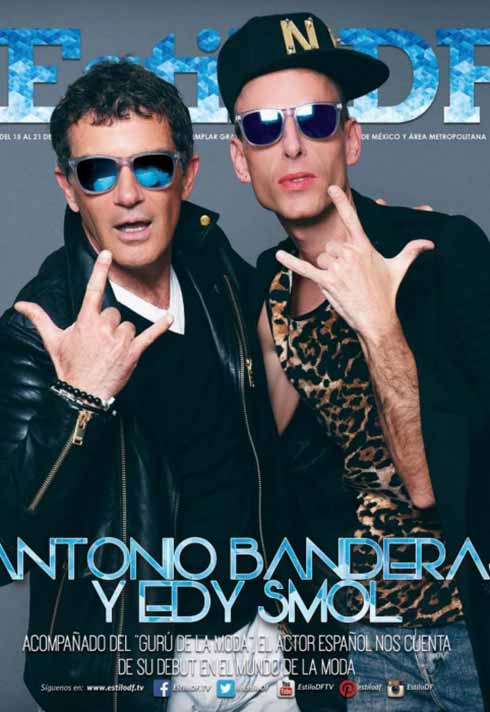 cover with Antonio Banderas and Edy Smol makeup by Blanche Macdonald graduate Alejandra Hernandez