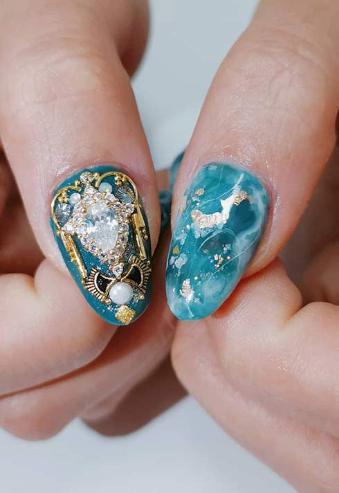 rococo nails by Jamie Yin Blanche Macdonald nail program Grad and Instructor