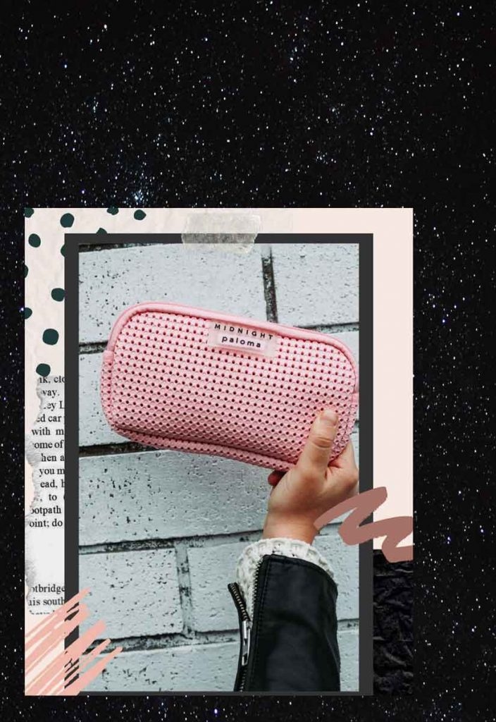 Tayler Rogers aka Midnight Paloma's toiletry bag design