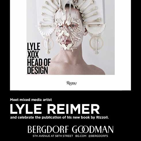 Lyle XOX Head of Design book launch at Bergdorf Goodman 5th Avenue