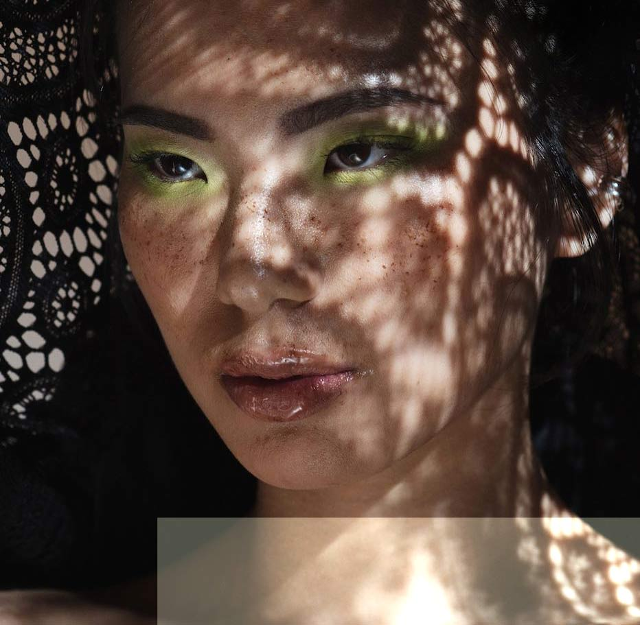 green eye makeup by Blanche Macdonald Graduates The Artistry Collective
