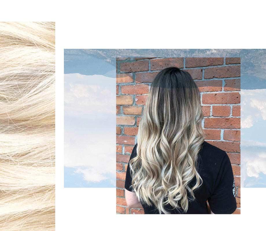 BMC pro hair graduate Camille Petit's blonde hair examples