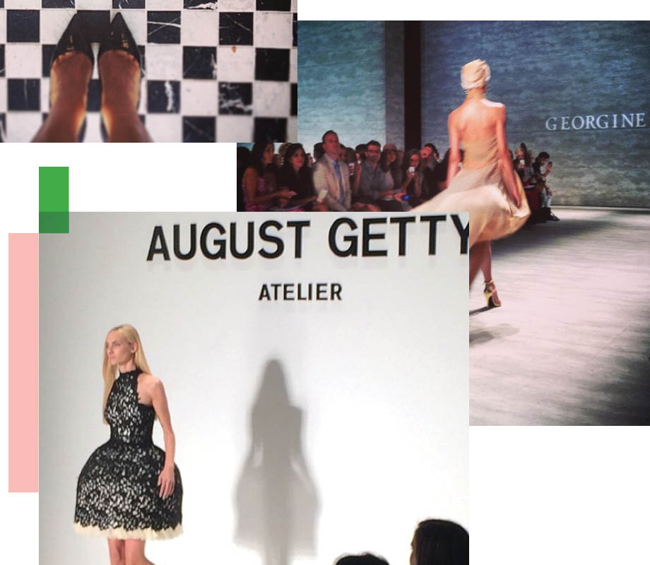 various models on the runway at Georgine and August Getty Atelier