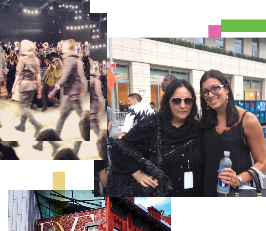 BMC Fashion Marketing grad Nikki Dindo with Kelly Cutrone in New York