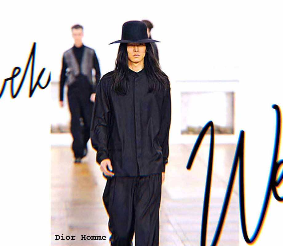 fashion merchandising grad David Chiang supermodel walks the runway for Dior Homme