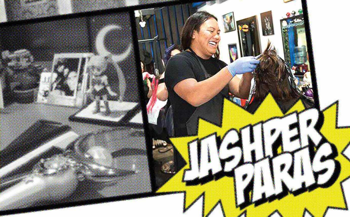 Jashper Paras is Over the Moon at B-Bombshell Salon