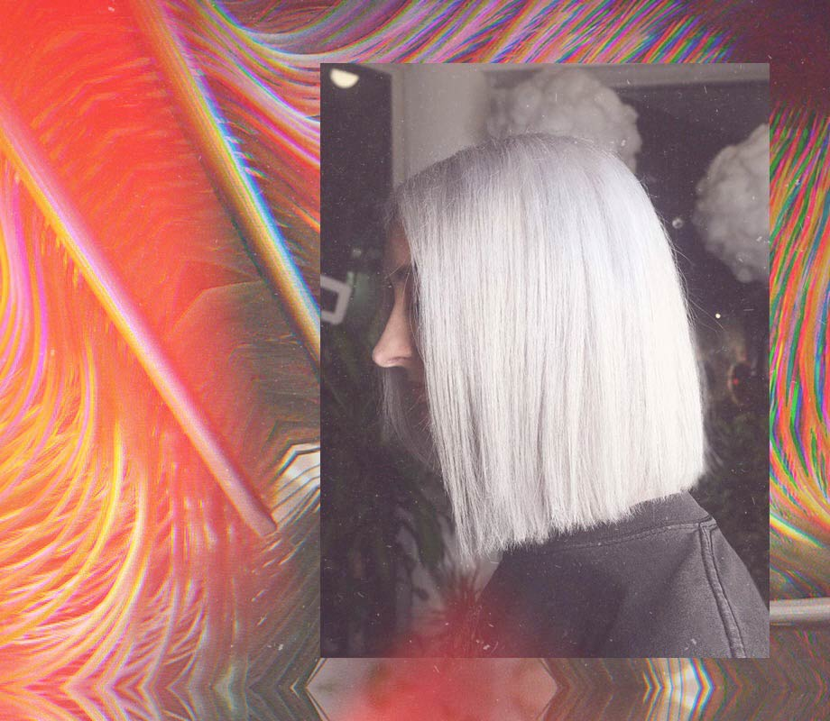 silver bob haircut by Nessa Pineda Blanche Macdonald Pro Hair Graduate