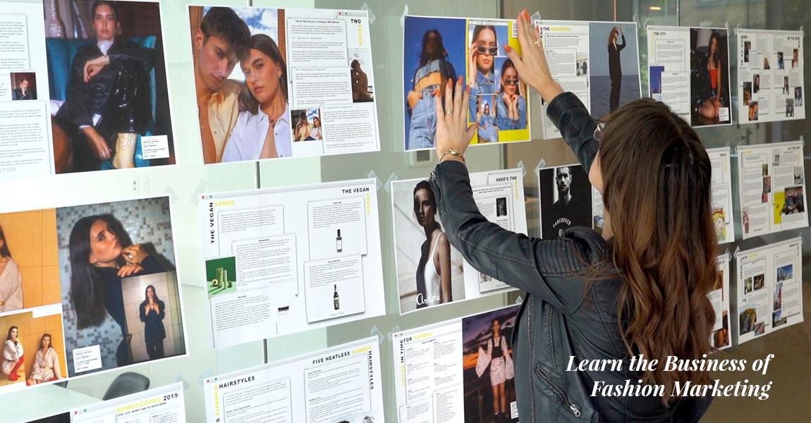 student brainstorms ideas for magazine fashion shoot