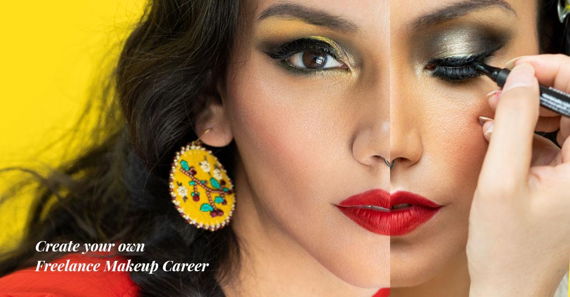 freelance makeup artist Jaylene McRae applies makeup to Indigenous model