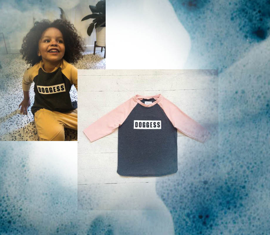 Doggess kid's clothing line designed by BMC Fashion Design graduate Katie Quinn